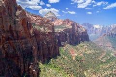Il canyon trascura - Zion NP immagini stock libere da diritti