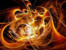 Il caos bizzarro arriccia - sottragga l'immagine digitalmente generata illustrazione vettoriale