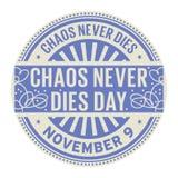 Il caos non muore mai il giorno, il 9 novembre illustrazione vettoriale