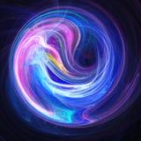Il caos rays lo spazio del cerchio royalty illustrazione gratis