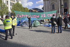 Il capitalismo è crisi Immagini Stock Libere da Diritti