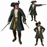 Il capitano del pirata royalty illustrazione gratis