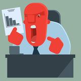 Il capo arrabbiato è scontentato con i risultati Fotografie Stock Libere da Diritti