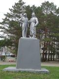 Il capo della rivoluzione, Lenin e la guardia rossa Fotografia Stock Libera da Diritti