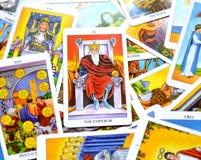 Il capo di Ruler King Governor del capo di potere della carta di tarocchi dell'imperatore illustrazione di stock