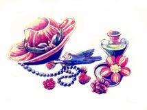 Il cappello ed i guanti Illustrazione Vettoriale