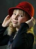 Il cappello rosso 2 Fotografie Stock Libere da Diritti