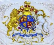 Il cappotto reale arma il san Martin Fields Anglican Church London Inghilterra fotografia stock