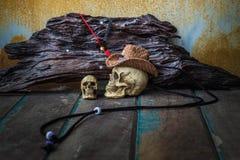 Il cappuccio del cranio lungo un paese Immagine Stock Libera da Diritti