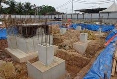 Il cappuccio di mucchio concreto concreted al cantiere Fotografia Stock Libera da Diritti