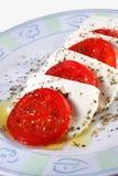 Il Caprese italiano - alimento Fotografie Stock