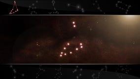 Il Capricorn del segno della stella dello stambecco illustrazione di stock
