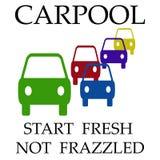 Il car pooling si logora royalty illustrazione gratis