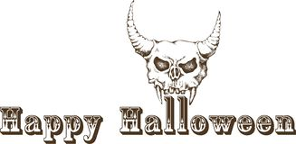 Il carattere d'annata classico di hallowen fotografie stock libere da diritti