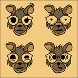 Il carattere del cane con le emozioni illustrazione di stock