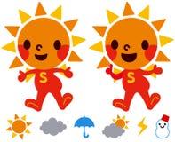 Il carattere di Sun illustrazione vettoriale