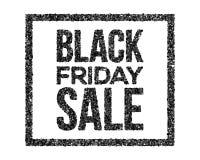 Il carbone di vettore di vendita di Black Friday firma dentro la struttura di lerciume Royalty Illustrazione gratis