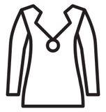 Il cardigan di miscela del cotone dei men's di progettazione del bottone ha isolato l'icona di vettore che può essere modificat illustrazione vettoriale