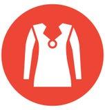 Il cardigan di miscela del cotone dei men's di progettazione del bottone ha isolato l'icona di vettore che può essere modificat royalty illustrazione gratis