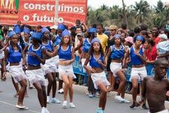 Il carnevale annuale nel capitale Fotografie Stock Libere da Diritti