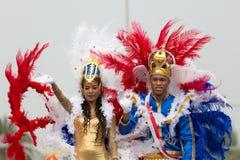 Il carnevale annuale nella capitale in Capo Verde, Praia Fotografia Stock