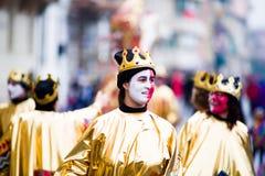 Il carnevale di Viareggio, edizione 2019 immagini stock libere da diritti