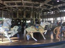 Il carosello di Herschel-Spillman al campo da giuoco del ` s dei bambini di Koret, Golden Gate Park, 5 Immagini Stock