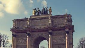 'Il carosello du Louvre' stock footage
