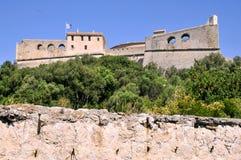 Il carré della fortificazione da Antibes in Francia Immagini Stock Libere da Diritti