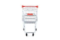 Il carrello di acquisto ha isolato Fotografie Stock
