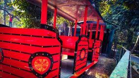 Il carrello ferroviario vuoto fotografia stock libera da diritti