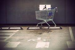 Il carretto del supermercato Immagine Stock Libera da Diritti