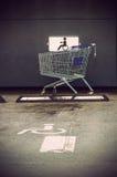 Il carretto del supermercato Fotografia Stock