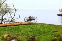 Il carretto vicino al lago Fotografia Stock
