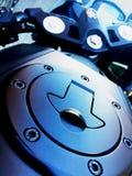 Il carro armato del motociclo Immagine Stock