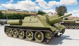 Il carro armato sovietico di combattimento Immagini Stock