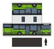 Il cartamodello di piccolo bus verde illustrazione di stock