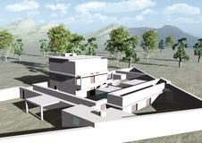 Il casa-rifugio del Osama bin Laden in Abbottabad Illustrazione di Stock