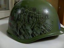 Il casco con la figura Fotografie Stock