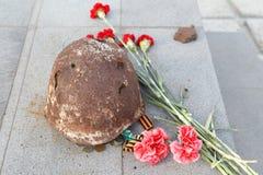 Il casco del soldato della seconda guerra mondiale Fotografia Stock Libera da Diritti