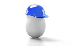 Il casco della costruzione dell'uovo, 3d rende Immagine Stock Libera da Diritti