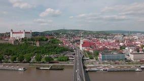 Il Casdtle di Bratislava, Slovacchia stock footage
