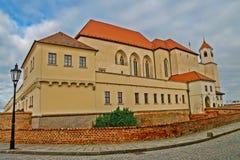 Il castello barrocco Spilberk a Brno Fotografia Stock