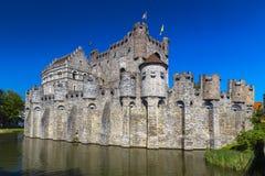 Il castello dei conteggi delle Fiandre Immagini Stock Libere da Diritti
