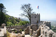 Il castello del attracca in Sintra Fotografie Stock