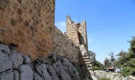 Il castello del ayyubid di Ajloun in Giordania del Nord, costruito nel XII secolo, Medio Oriente immagine stock