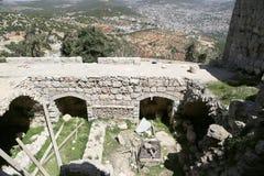 Il castello del ayyubid di Ajloun in Giordania del Nord, costruito nel XII secolo, Medio Oriente fotografie stock libere da diritti