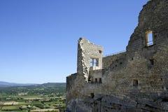 Il castello del coste della La rovina la Provenza Francia Fotografie Stock Libere da Diritti