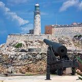 Il castello del EL Morro a Avana Fotografia Stock Libera da Diritti