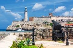 Il castello del EL Morro a Avana Fotografia Stock